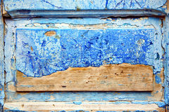 dirty stripped paint in the nail Royalty Free Stock Photo