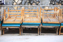 Dirty sunbed on the beach Royalty Free Stock Photo
