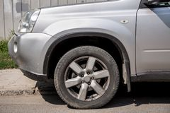The dirty SUV. Royalty Free Stock Image