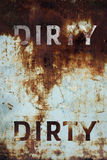 Dirty text on Grunge metal background Stock Photography