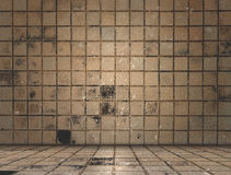 Dirty tile room Royalty Free Stock Image