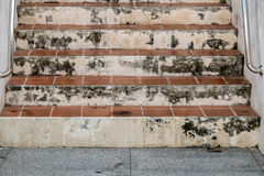 Dirty Tile Staircase Stock Photography