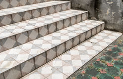 Dirty tile Staircase Royalty Free Stock Photography