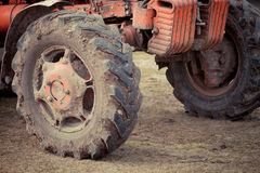 Dirty tire Royalty Free Stock Photo