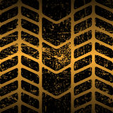 Dirty tire track Stock Image