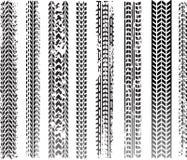 Dirty tire tracks vector illustration