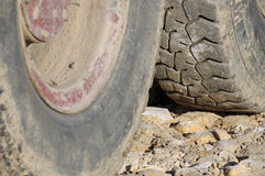 Dirty tires Stock Photo