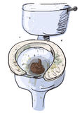 Dirty toilet isolated. Vector Illustration Royalty Free Stock Photography