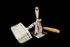 Dirty tools. Of a house painter Royalty Free Stock Photos