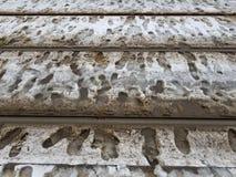 Dirty tracks of snow stock image