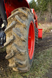 Dirty Tractor Tire Royalty Free Stock Images
