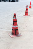 Dirty Traffic cone Stock Photography