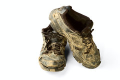 Dirty trainers Royalty Free Stock Images