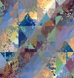 Dirty triangles pattern Royalty Free Stock Photo