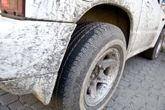 Dirty truck royalty free stock photography
