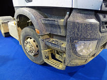 Dirty truck on clean carpet Royalty Free Stock Images