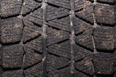 Dirty tyre tread Stock Images