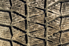 Dirty tyre tread Royalty Free Stock Images