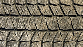 Dirty tyre tread Stock Photography