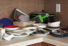 Dirty and unneated kitchen Stock Photos