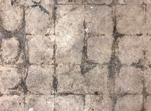 Dirty Untiled Floor. Closeup of a Dirty Untiled Floor Royalty Free Stock Photos