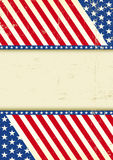 Dirty USA cool flag. A grunge poster of America for your message Stock Photo