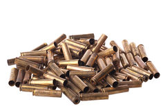 Used .30 carbine shell casing. Dirty Used .30 carbine shell casings Stock Image