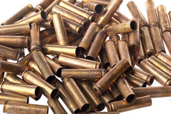 Used .30 carbine shell casing. Dirty Used .30 carbine shell casings Stock Photo