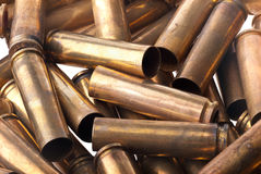 Used .30 carbine shell casing. Dirty Used .30 carbine shell casings Stock Photography