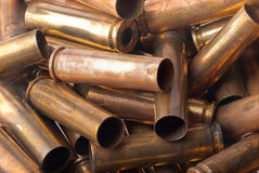 Used .30 carbine shell casing. Dirty Used .30 carbine shell casings Royalty Free Stock Image