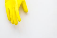 Dirty, used cleaning gloves Royalty Free Stock Photo