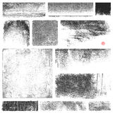 Dirty Vector Textures Royalty Free Stock Photography