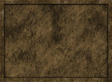 Dirty vintage metal plate texture with frame Stock Images