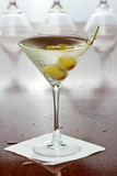 Dirty vodka martini Stock Photos