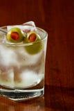 Dirty vodka martini Stock Photography