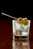 Dirty vodka martini Stock Photo