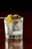 Dirty vodka martini Royalty Free Stock Image