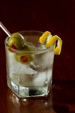 Dirty vodka martini Stock Images