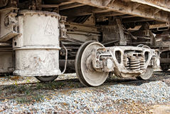 Dirty wagons weel Stock Image