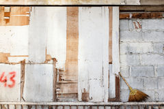 Dirty Wall Background. With painting in the city Royalty Free Stock Photos
