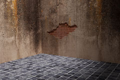 Dirty wall. 3d rendering of a dirty and broken wall Royalty Free Stock Photos
