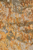 Dirty wall with peeling plater and rusty stains Royalty Free Stock Photography