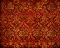 Dirty wallpaper. Retro golden dirty floral wallpaper Royalty Free Stock Images