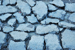 Dirty water in the cracks Royalty Free Stock Images