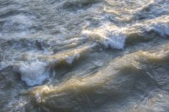 Dirty water flow Royalty Free Stock Photography