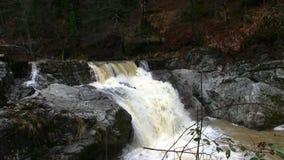 Dirty waterfall stock video
