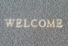 Dirty welcom doormat Royalty Free Stock Photography