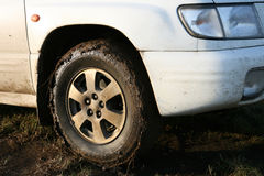 Dirty wheel Royalty Free Stock Images