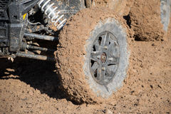 Dirty wheel racecar Royalty Free Stock Image