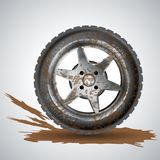 Dirty wheel Stock Image